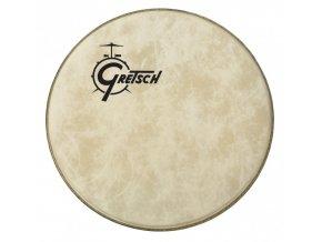 """Gretsch Logo Bass Drum Reso 24"""" Fiberskyn,Offset Logo GPFIBERO-24"""