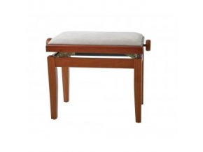 GEWA Piano bench GEWA Piano Deluxe Cherry tree highgloss Beige cover