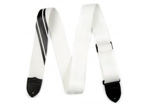 Fender Competition Stripe Strap, White and Black
