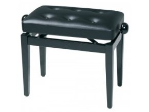 GEWA Piano bench Deluxe black high gloss GEWA Piano Black high gloss Black