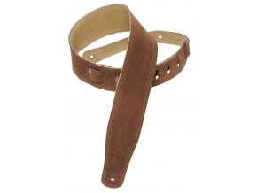 Levys MS26 Suede Leather Guitar Strap, Brown