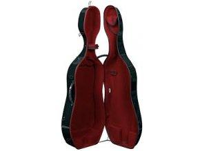 GEWA Cases Cello case Idea Evolution 4.9 Highgloss Black/red