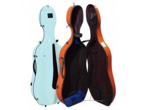 GEWA Cases Cello case Idea Evolution 4.9 Pastel-coloured Signal orange/black