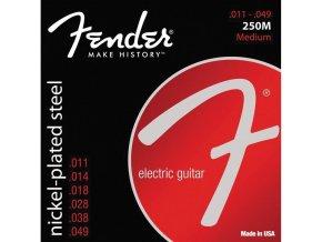 Fender Super 250 Guitar Strings, Nickel Plated Steel, Ball End, 250M Gauges .011