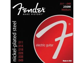 Fender Super 250 Guitar Strings, Nickel Plated Steel, Ball End, 250M Gauges .011