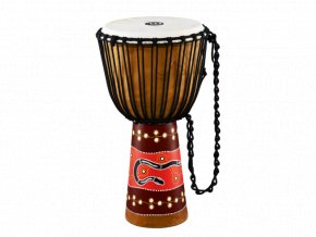 MEINL AFRICAN STYLE DJEMBE X-LARGE,PAINTED, PYTHON DESIGN