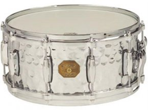 "Gretsch Snare G4000 Series 6x13"" Hammered Chrome Over Brass Shell"