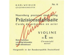 Nurnberger Strings For Violin Precision solid core 1/4