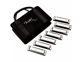 Fender Blues Deluxe Harmonica, Pack of 7, with Case