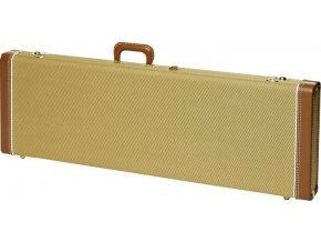 Fender G&G Deluxe Precision Bass Hardshell Case, Tweed with Red Poodle Plush Int