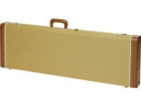 Fender G&G Deluxe Jazz Bass Hardshell Case, Tweed with Red Poodle Plush Interior