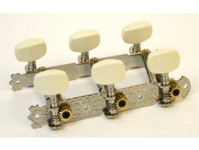 Alice AOD-017A(P) NICKEL-PLATED STEEL GUITAR 3 MACHINE HEAD