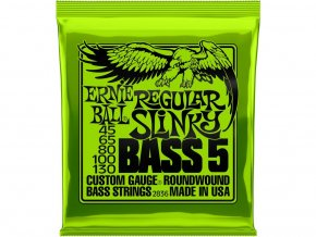 Ernie Ball Regular Slinky 5 - String Nickel Wound Electric Bass Strings