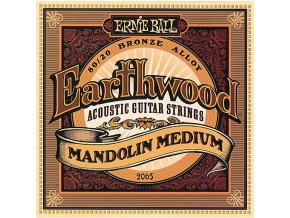 Ernie Ball Earthwood Mandolin Medium Loop End 80/20 Bronze Acoustic Guitar Strings