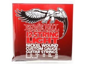 Ernie Ball Light 12-String Nickel Wound Electric Guitar Strings