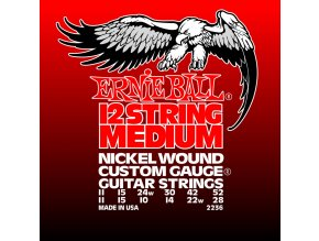 Ernie Ball Medium 12-String Nickel Wound Electric Guitar Strings