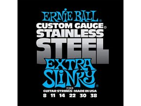 Ernie Ball Extra Slinky Stainless Steel Wound Electric Guitar Strings