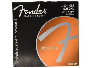 Fender Super 5250 Bass Strings, Nickel-Plated Steel Roundwound, Short Scale, 525