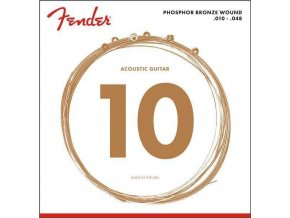 Fender Phosphor Bronze Acoustic 10 - 48 Guitar Strings, Ball End
