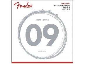 Fender Super 250 Guitar Strings, Nickel Plated Steel, Ball End, 250L Gauges .009