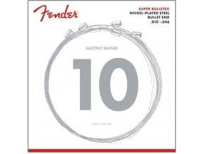 Fender Super Bullet Strings 010, Nickel Plated Steel, Bullet End, 3250R