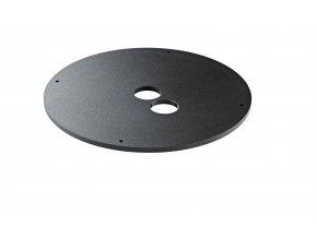 K&M 26709 Additional load for base plates Structured Black