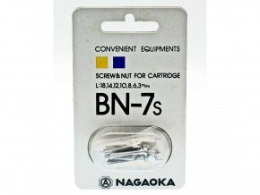 Nagaoka BN-7 silver cartridge mounting screws (4+4)