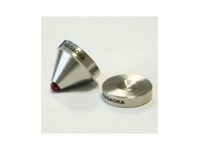 Nagaoka SU01 INSULATORS silver with ruby