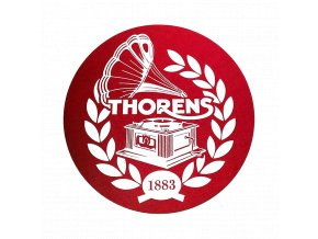 Thorens Felt Mat Červená Biele logo