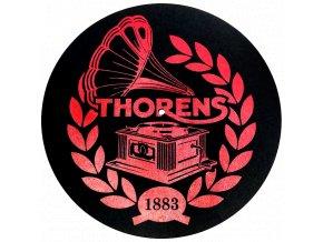 Thorens Felt Mat Čierna Červené logo