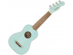 Fender Venice Soprano Uke, Walnut Fingerboard, Daphne Blue 1