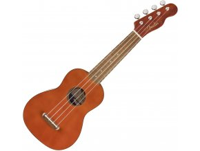 Fender Venice Soprano Uke, Walnut Fingerboard, Natural 1