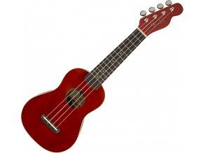 Fender Venice Soprano Uke, Walnut Fingerboard, Cherry 1
