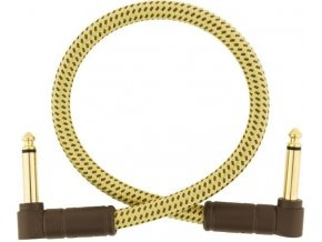 Fender Deluxe Series Instrument Cable, Angle/Angle, 1', Tweed