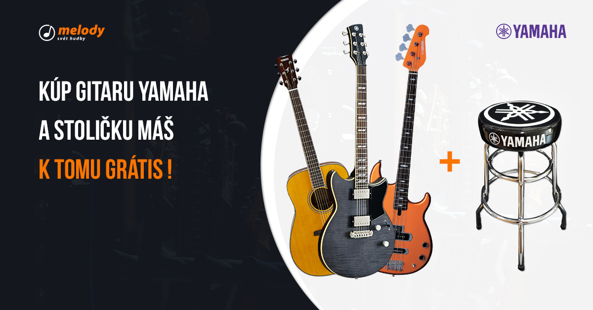 Kúp gitaru Yamaha a gitarovú stoličku dostaneš grátis!