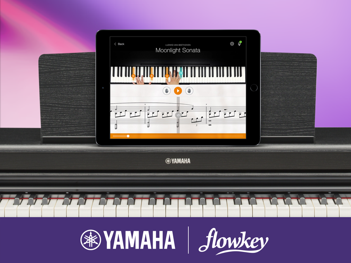 Naučte sa hrať známe piesne vďaka aplikácii Flowkey a Yamahe