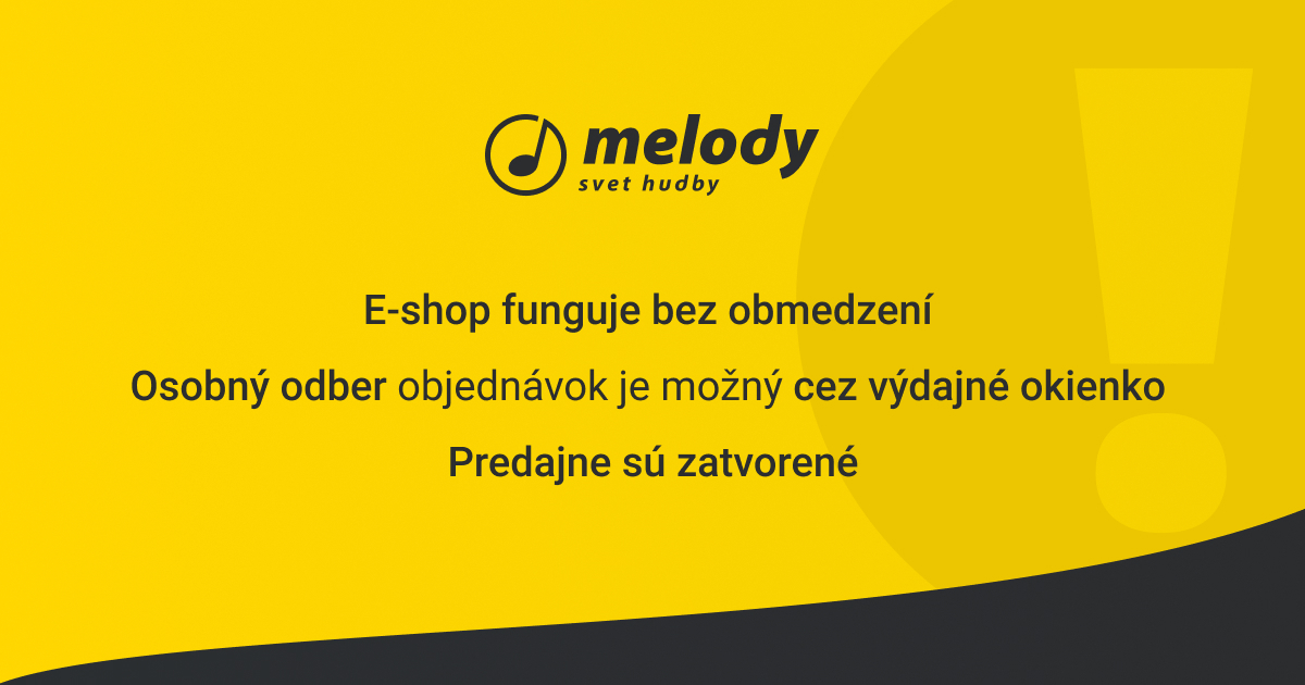Zatvorené predajne Melody z dôvodu šírenia koronavírusu