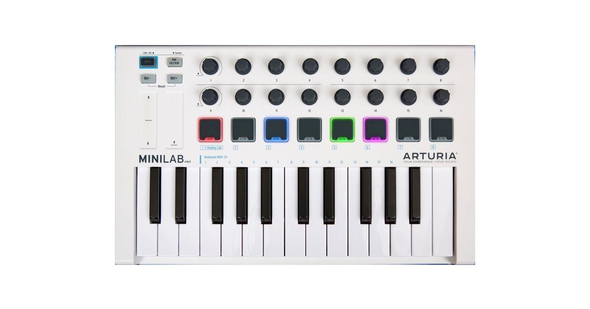 Klávesové MIDI kontroléry