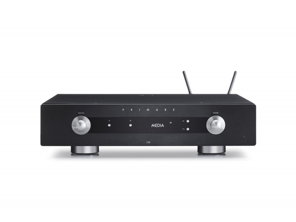 primare i35 prisma modular integrated amplifier and network player front with antenna scaled
