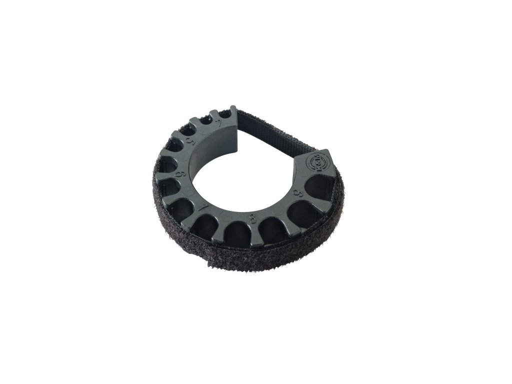 K&M 21404 Cable clamp black
