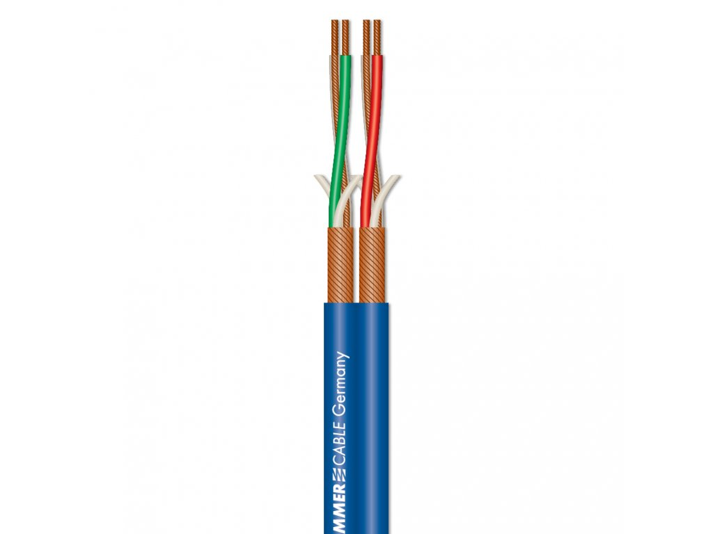 Sommer Cable Patch & Microphone Cable SC-Peacock MKII Blue