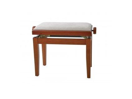 GEWA Piano bench GEWA Piano Deluxe Cherry tree highgloss Beige cover
