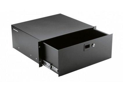 K&M 491/2 Rackmount storage black, 4 spaces, 8,94 kg