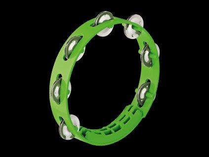 """NINO Compact ABS Tambourine 8 """"Tambourine, grass green"""