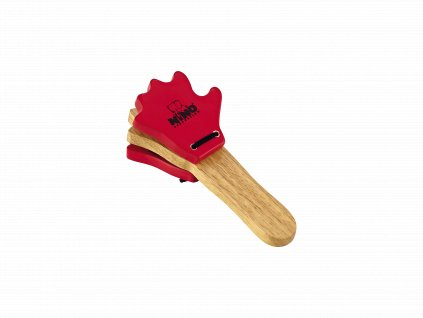 NINO HAND-CASTANET WOOD NATURAL/RED