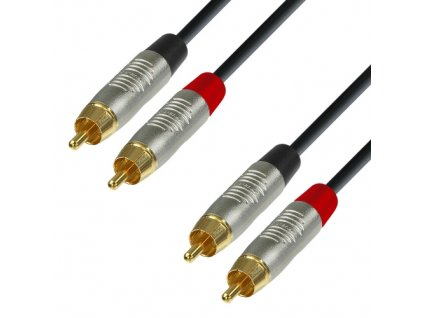Adam Hall Cables K4 TCC 0090 - Audiokabel REAN 2 x Cinch male auf 2 x Cinch male