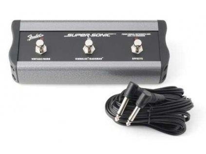 "Fender 3-Button Footswitch: Vintage & Burn/Vibrolux & Bassman/Effects, 1/4"" Conn"