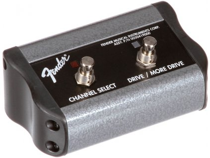 """Fender 2-Button 3-Function Footswitch: Channel / Gain / More Gain with 1/4"""" Jack"""