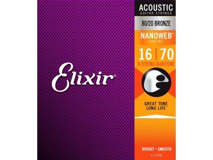 Elixir Nanoweb Acoustic Baritone Guitar 8-String