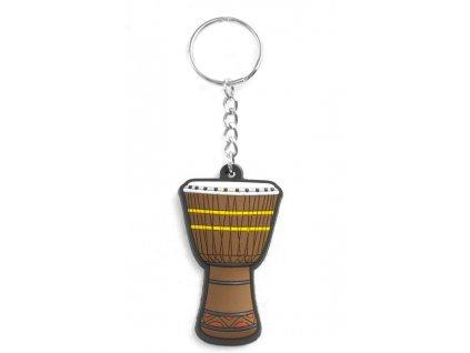 Musician Designer Music Key Chain African Drum Brown